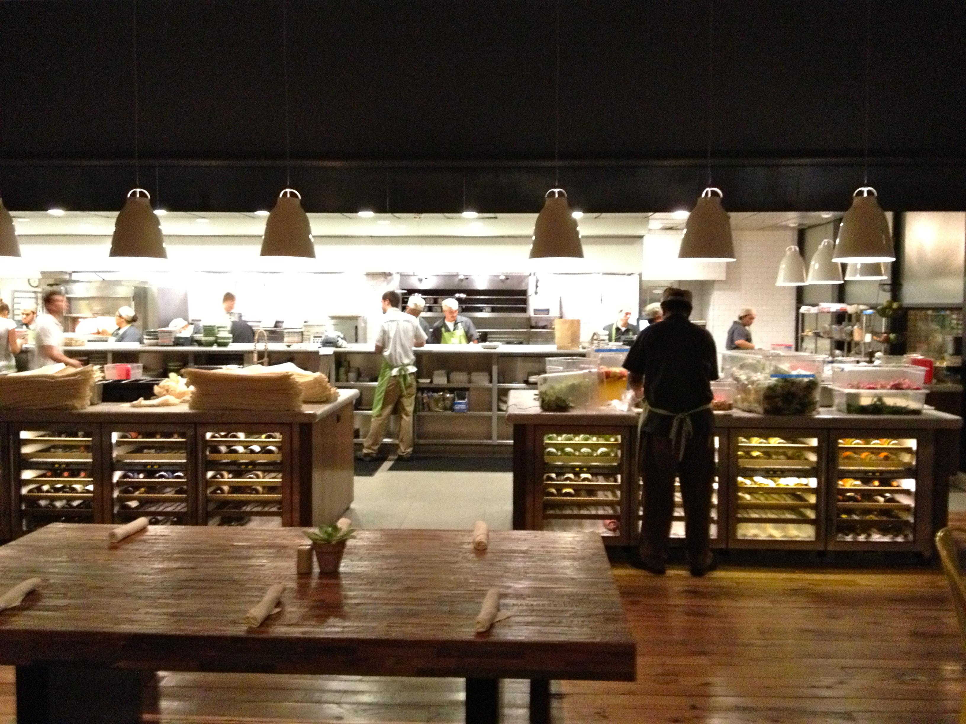 busy restaurant kitchen - interior design
